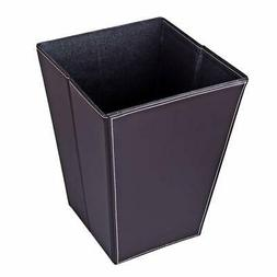HMANE 12L/3.17Gallon Folding Square Trash Can Leather Waterp