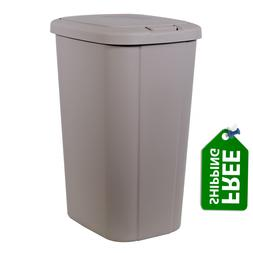 13.3-gallon Hefty Touch Lid Trash Can, Taupe Colors