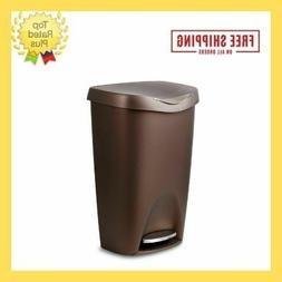 13 Gallon  Trash Can with Lid Bronze Residential Commercial