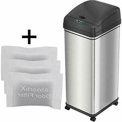 iTouchless 13 Gallon Glide Sensor Trash Can