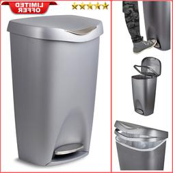 13 Gallon Large Trash Can Large Garbage Bin with Lid Stainle