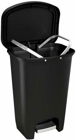 13 Gallon Glad Step Trash Can With Odor Protection