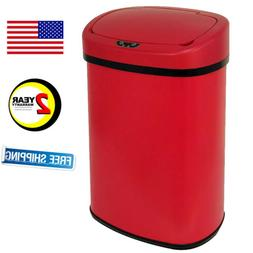 13-Gallon Touch-Free Sensor Automatic Stainless-Steel Trash