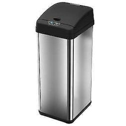 iTouchless 13-gallon Touchless Motion Stainless Steel Trash