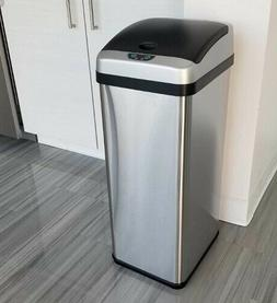 iTouchless/ 13 Gallon Touchless Sensor Kitchen Trash Can/ St