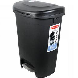 13 Gallon Trash Can 52 Quart Pedal Liner Lock Tall Kitchen W