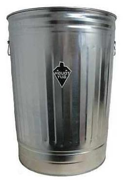 TOUGH GUY 2PYW6 31 gal. Galvanized steel Round Trash Can, Op