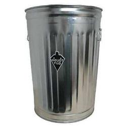 TOUGH GUY 2PYX5 20 gal. Galvanized steel Round Trash Can, Op