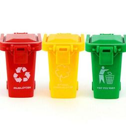 3 Piece Trash Cans For Kids Toddler Push Toy Vehicle Garbage