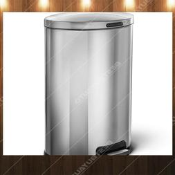 HomeZone 45 L Stainless Steel Semi Round Kitchen Trash Can 1