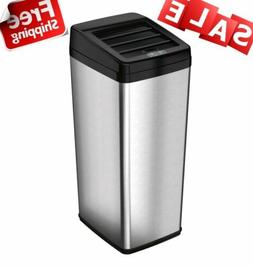 52 Liter Stainless Steel Rectangular SMART Trash Can W/ Retr
