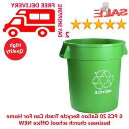 6 PCS 20 Gallon Recycle Trash Can For Home business church s