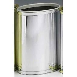 Kraftware 75874 Mylar Polished Chrome Waste Basket
