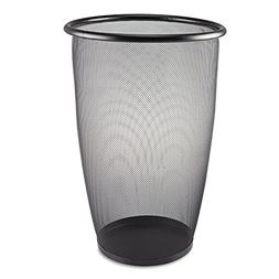 Safco Products 9718BL Onyx Mesh Large Round Wastebasket, 9-G