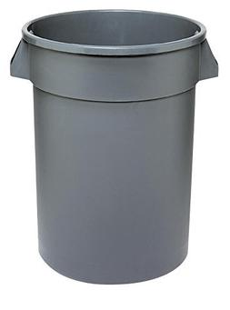 Continental 4444GY 44-Gallon Huskee Waste Receptacle,Round,