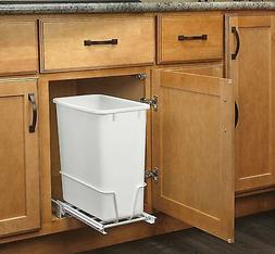 Rev-A-Shelf - RV-814PB - Single 20 Qt. Pull-Out White Waste