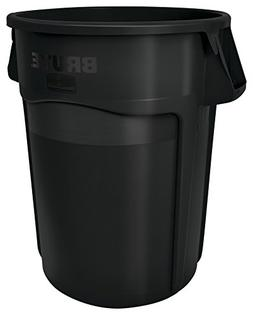 Rubbermaid Commercial Brute Vented Trash Receptacle, Round,