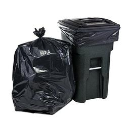 64 Gallon Trash Bags for Toter, Black, 1.5MIL, 50X60, 50 Bag