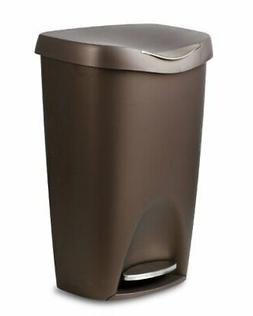 Bronze Stainless Steel Can Trash 13 Gallon Kitchen With Lid