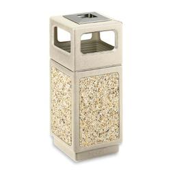 Safco Canmeleon Waste Receptacle Ash/Urn Side Open - 15 gal