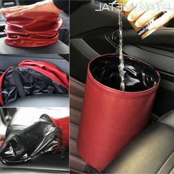 Car Interior Folding Trash Can Rubbish Storage Bag Waterproo