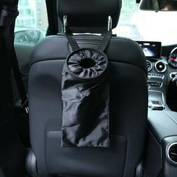 Car trash can garbage hanging bag holder container auto back