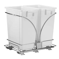 Household Essentials Double Pull Out Trash Can, 9-Gallon
