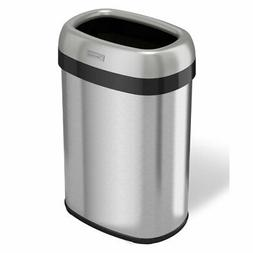 iTouchless Dual-Deodorizer Oval Open Top Trash Can