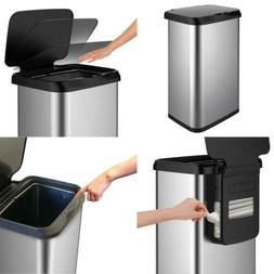 Extra Capacity Stainless Steel Sensor Trash Can with Clorox