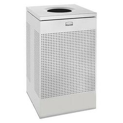 RUBBERMAID FGSC18EPLSM 20 gal. Silver Steel Square Trash Can