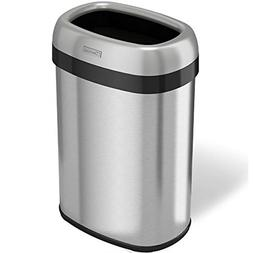 Gallon Oval Top Trash Can And Recycle Bin Large 12 Inch Open