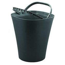 Glad Small Waste Basket with Bag Ring   Trash Can for Home,
