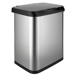 GLAD Stainless Steel Sensor Trash Can with Clorox Odor Prote