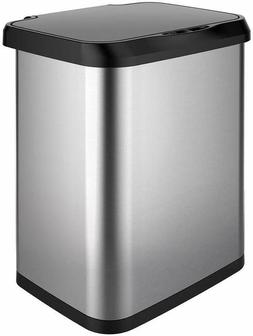 GLAD GLD-74515 Stainless Steel Sensor Trash Can 13 Gallon Cl