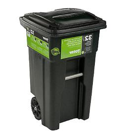 Toter Trash Can Garbage Container Cart Rolling Wheels Lid 32
