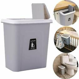 Hanging Trash Can Garbage Can with Lid for Bedroom and Bathr