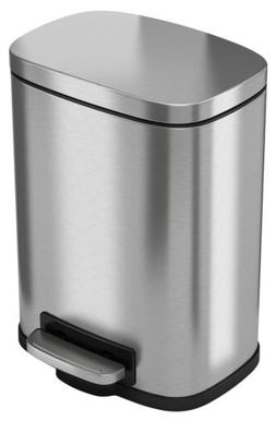 iTouchless SoftStep 5 Liter Stainless Steel Step Trash Can