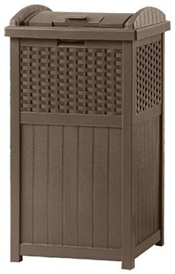 Java Outdoor Resin Wicker Trash Can