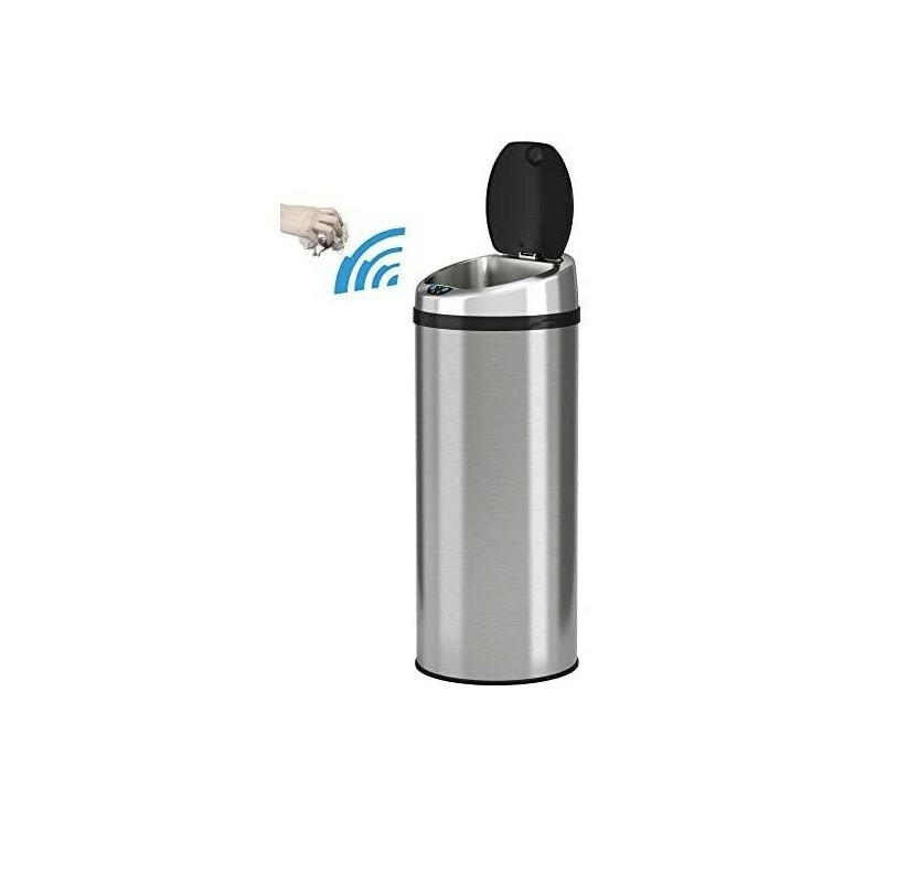 iTouchless - 13-Gal. Touchless Trash Stainless FREESHIP