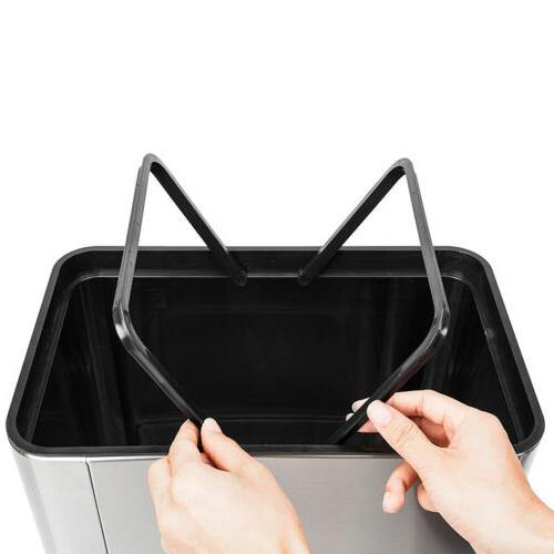 Automatic Stainless Garbage Can Touch Motion