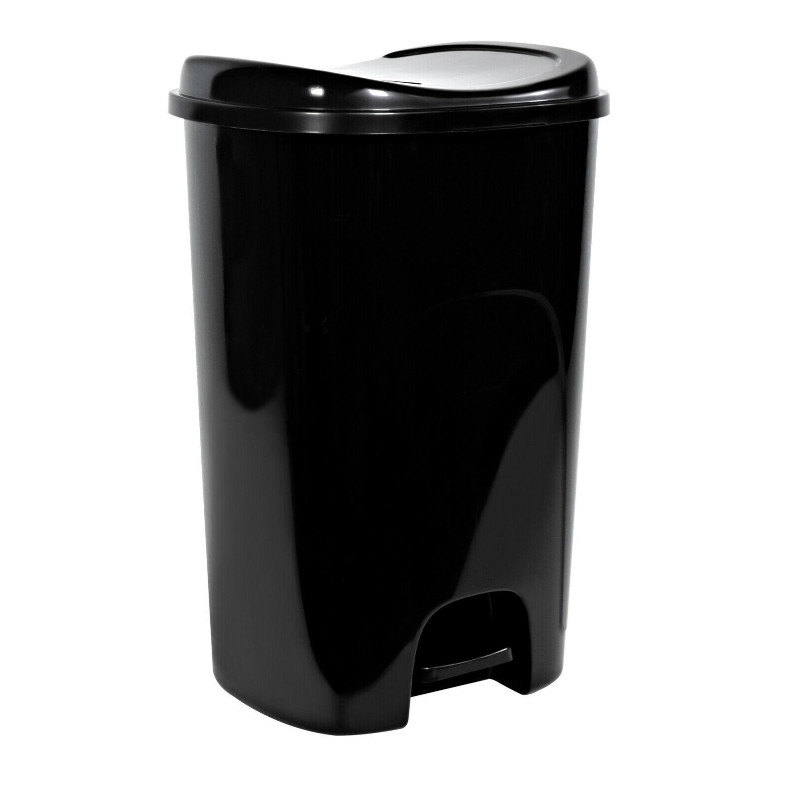 13 gallon hands free trash can home