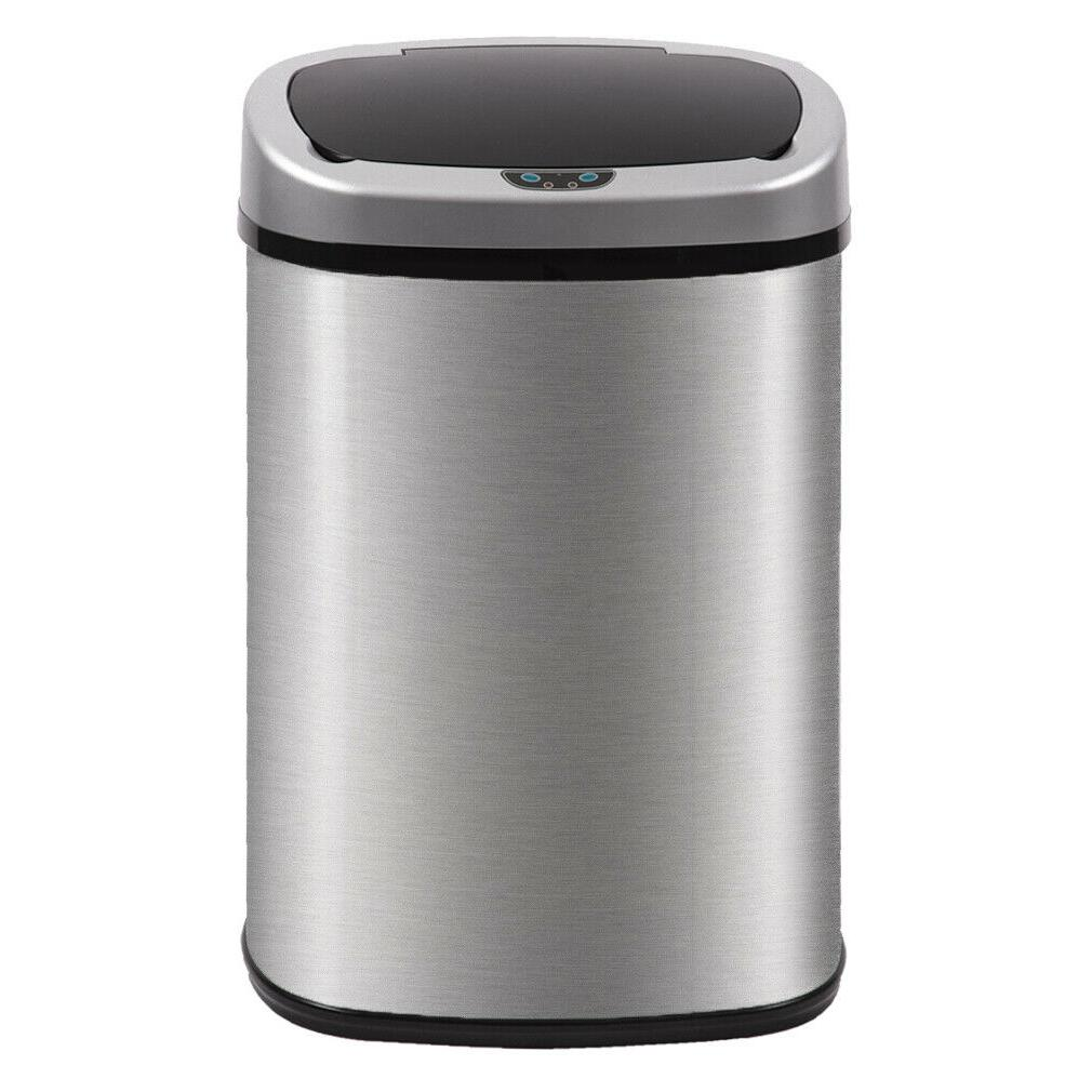 13 gallon kitchen trash garbage can automatic