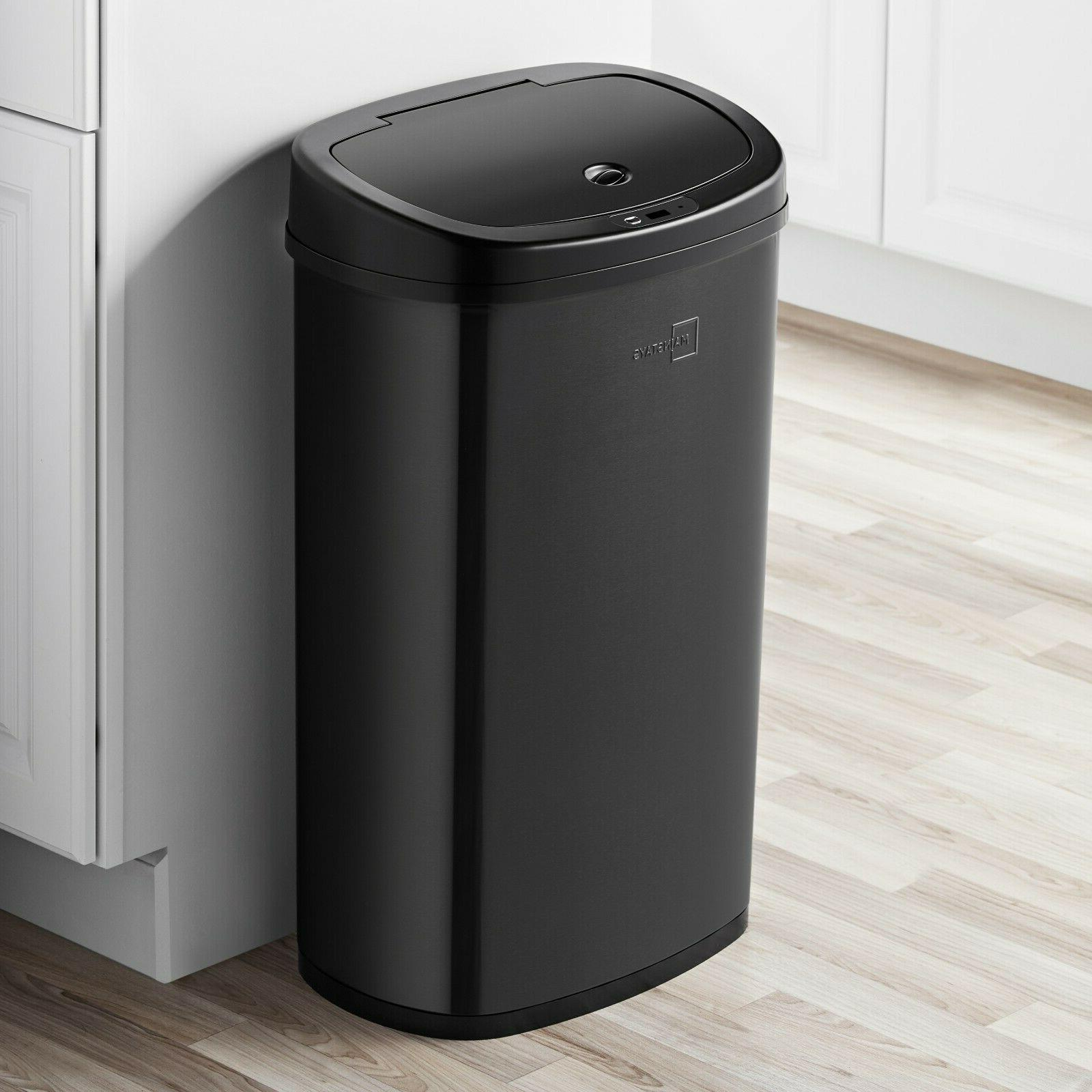 13 Gallon Trash Can Motion Stainless Kitchen Hands