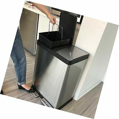 iTouchless Step Trash Recycle, and