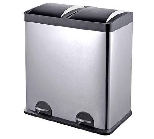 2 compartment trash can recycling bin 16