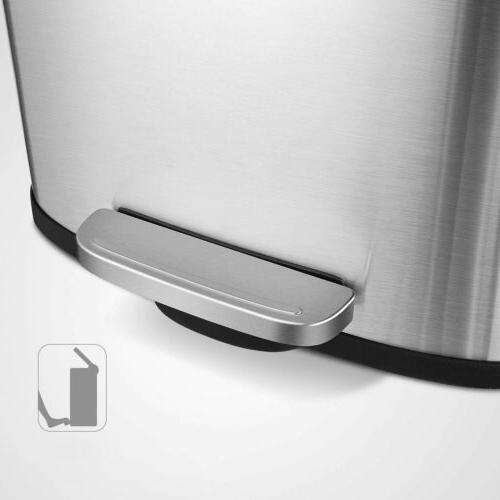 Stainless Steel Trash Can Garbage w/ Lid Waste US