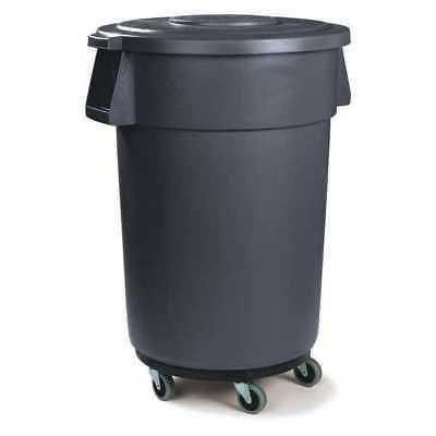 34113223 32 gal gray round trash can