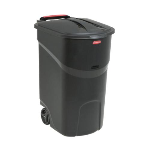 45 gallon wheeled trash can with lid