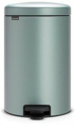 Brabantia 5.3 Gal. Metallic Mint Steel Step-On Trash Can Rou
