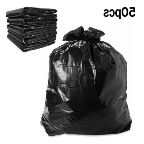 """50Pack 64 Gallon Can Heavy Duty Trash Bags 50""""×60"""""""